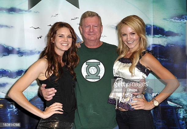 Actress Catherine Annette producer Len McLeod and actress Madison Dylan participate in Day 2 of ComicCon International 2012 held at San Diego...
