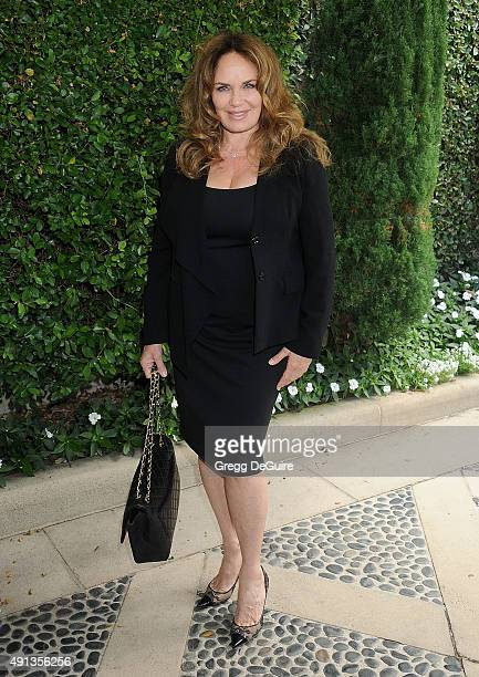 Actress Catherine Bach arrives at The Rape Foundation's Annual Brunch at Greenacres The Private Estate of Ron Burkle on October 4 2015 in Beverly...