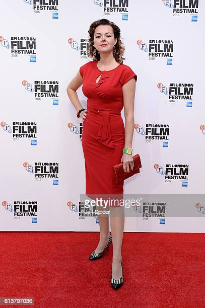 Actress Catherine Bailey attends 'A Quiet Passion' official competition screening during the 60th BFI London Film Festival at Embankment Garden...