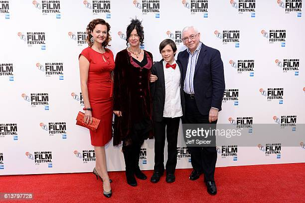 Actress Catherine Bailey Executive Producer Andrea Gibson and her son and director Terence Davies attend the 'A Quiet Passion' official competition...