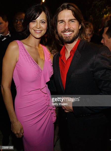 Actress Catherine Bell and actor Tom Cruise attend the Church of Scientology Celebrity Centre's 34th Annual Anniversary Gala at the Church of...
