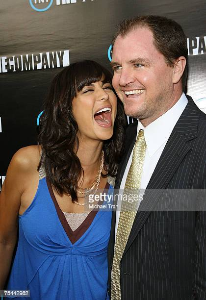 Actress Catherine Bell and Adam Beason arrives at the Los Angeles premiere of The Company at The Majestic Crest Theater on July 16 2007 in Westwood...