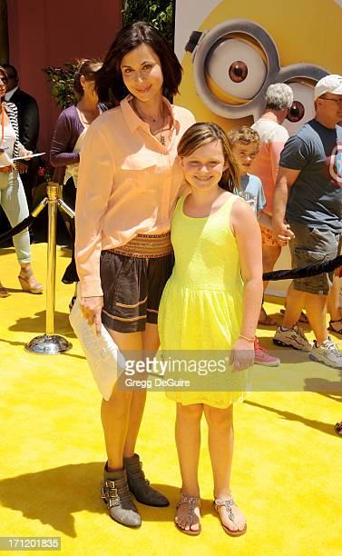 Actress Catherine Bell and daughter Gemma Beason arrive at the Los Angeles premiere of Despicable Me 2 at Universal CityWalk on June 22 2013 in...