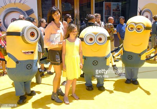 Actress Catherine Bell and daughter Gemma Beason arrive at the Los Angeles premiere of 'Despicable Me 2 held at Universal CityWalk on June 22 2013 in...