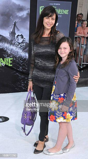 Actress Catherine Bell and daughter Gemma Beason attend the premiere of 'Frankenweenie' at the El Capitan Theatre on September 24 2012 in Hollywood...