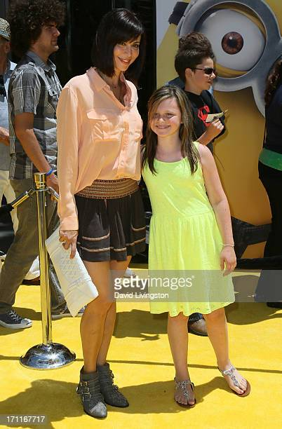 Actress Catherine Bell and daughter Gemma Beason attend the premiere of Universal Pictures' Despicable Me 2 at the Gibson Amphitheatre on June 22...