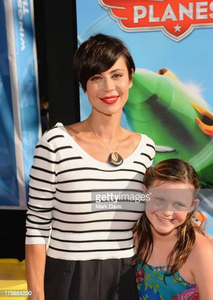 Actress Catherine Bell and daughter Gemma Beason attend the premiere of Disney's Planes at the El Capitan Theatre on August 5 2013 in Hollywood...