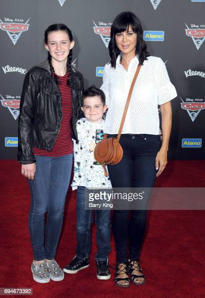 Actress Catherine Bell and family attend the World Premiere of Disney and Pixar's 'Cars 3' at Anaheim Convention Center on June 10 2017 in Anaheim...