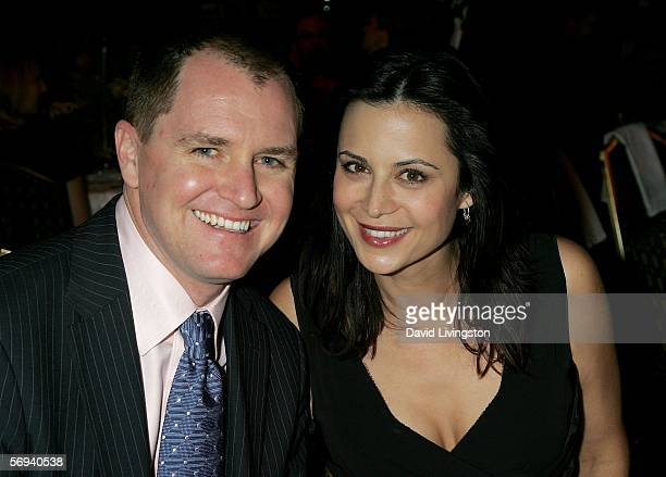 Actress Catherine Bell and husband Adam Beason attend the 37th Annual Awards Banquet of the Citizens Commission on Human Rights at the Hyatt Regency...