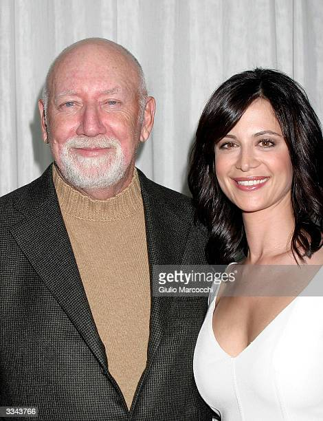 Actress Catherine Bell and producer Donald P Bellisario attend the Paramount Network Television and CBS 200 Episodes of JAG Celebration Party at The...