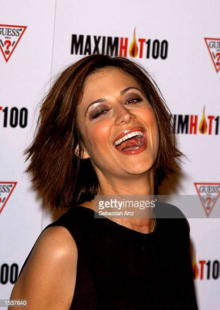 Actress Catherine Bell arrives at Maxim's Hot100 party April 25 2002 in Los Angeles CA