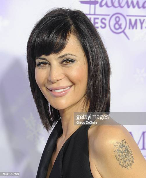 Actress Catherine Bell arrives at the Hallmark Channel and Hallmark Movies and Mysteries Winter 2016 TCA Press Tour at Tournament House on January 8...