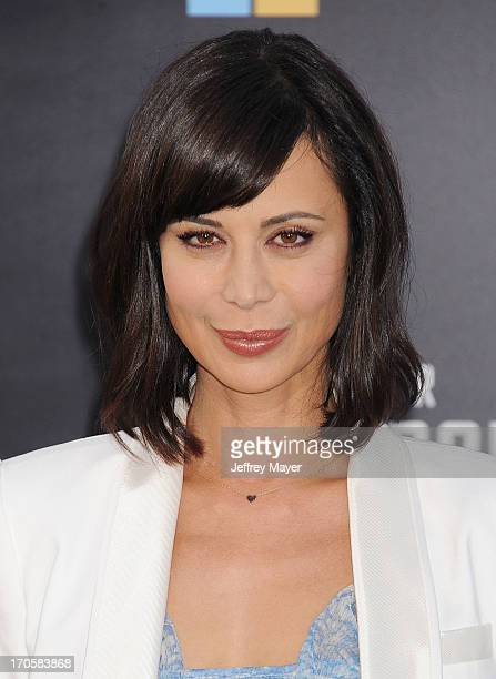 Actress Catherine Bell arrives at the Los Angeles premiere of 'Star Trek Into Darkness' at Dolby Theatre on May 14 2013 in Hollywood California