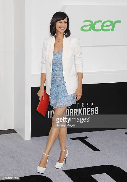 Actress Catherine Bell arrives at the Los Angeles premiere of 'Star Trek: Into Darkness' at Dolby Theatre on May 14, 2013 in Hollywood, California.