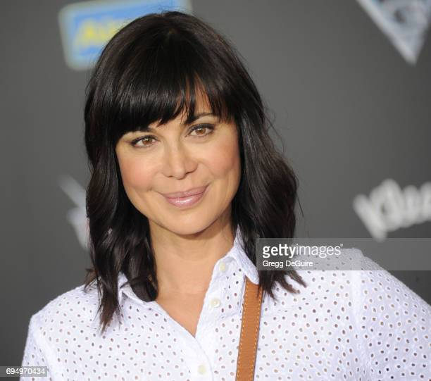 Actress Catherine Bell arrives at the premiere of Disney And Pixar's 'Cars 3' at Anaheim Convention Center on June 10 2017 in Anaheim California