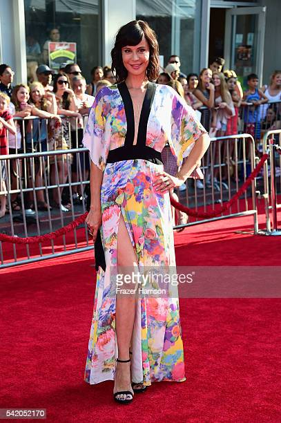Actress Catherine Bell arrives at the Premiere of Disney's The BFG at the El Capitan Theatre on June 21 2016 in Hollywood California