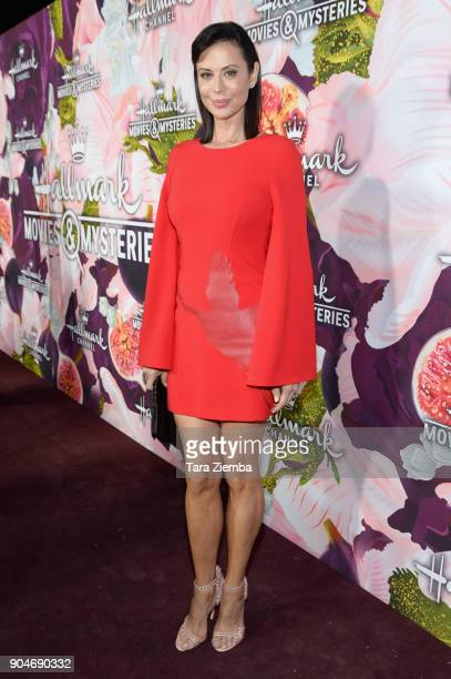 Actress Catherine Bell attends Hallmark Channel and Hallmark Movies and Mysteries Winter 2018 TCA Press Tour at Tournament House on January 13 2018...