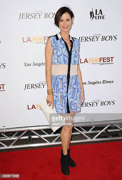 Actress Catherine Bell attends the 2014 Los Angeles Film Festival closing night film premiere of 'Jersey Boys' at Premiere House on June 19 2014 in...