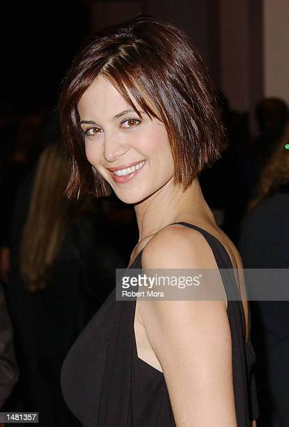 Actress Catherine Bell attends the Casting Society of America's18th Annual Artios Awards at the Beverly Hilton Hotel on October 17 2002 in Beverly...