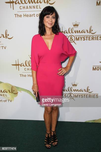Actress Catherine Bell attends the Hallmark Channel and Hallmark Movies and Mysteries 2017 Summer TCA Tour on July 27 2017 in Beverly Hills California