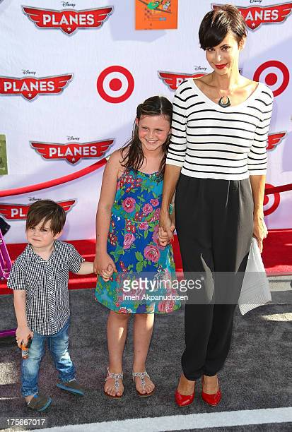 Actress Catherine Bell attends the premiere of Disney's 'Planes' at the El Capitan Theatre on August 5 2013 in Hollywood California