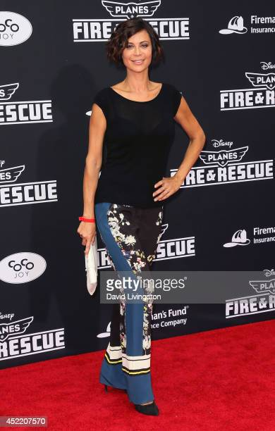 Actress Catherine Bell attends the premiere of Disney's 'Planes Fire Rescue' at the El Capitan Theatre on July 15 2014 in Hollywood California