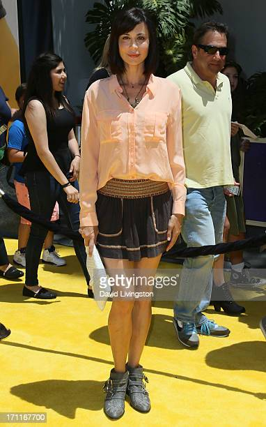 """Actress Catherine Bell attends the premiere of Universal Pictures' """"Despicable Me 2"""" at the Gibson Amphitheatre on June 22, 2013 in Universal City,..."""