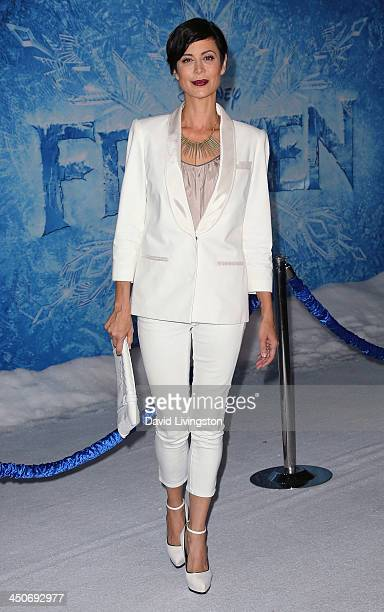 Actress Catherine Bell attends the premiere of Walt Disney Animation Studios' Frozen at the El Capitan Theatre on November 19 2013 in Hollywood...