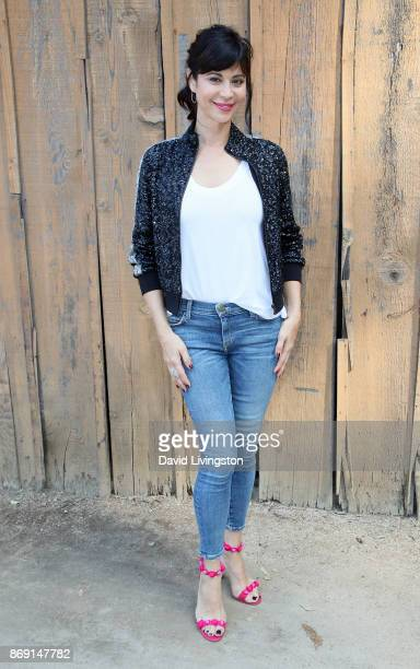 Actress Catherine Bell visits Hallmark's Home Family at Universal Studios Hollywood on November 1 2017 in Universal City California