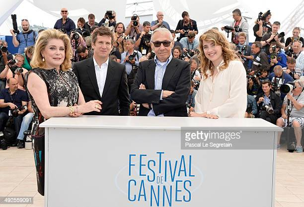 Actress Catherine Deneuve actor Guillaume Canet director Andre Techine and actress Adele Haenel attend 'L'Homme Qu'On Aimait Trop' photocall at the...
