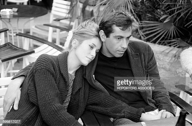 Actress Catherine Deneuve and Director Roger Vadim in the South of France 25th April 1960