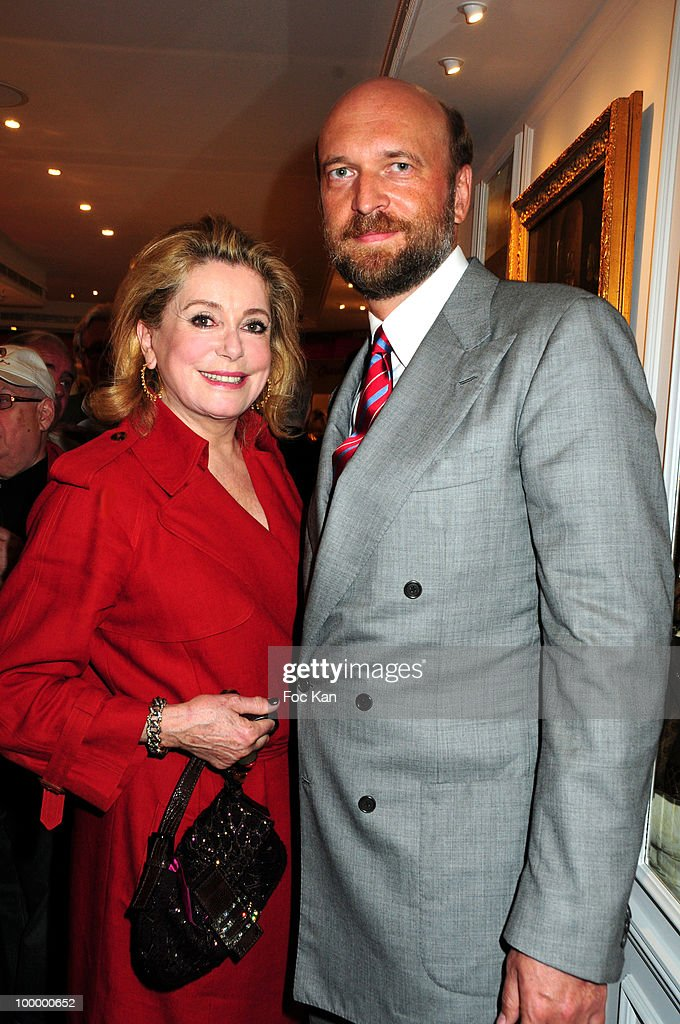 Actress Catherine Deneuve and Hediard store owner Sergei Pugachev (B) attend the Hediard Monaco Launch Cocktail at Hediard Store Metropole Center on May 11, 2010 in Monte Carlo, Monaco.