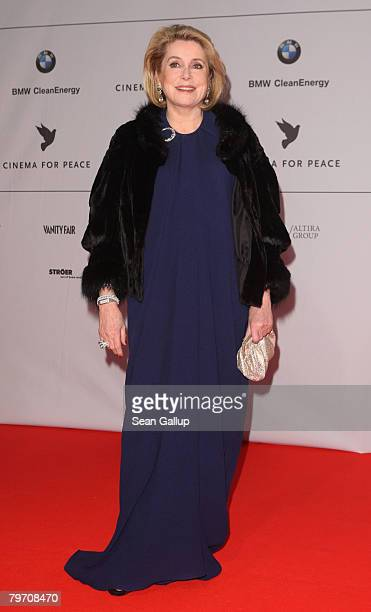 Actress Catherine Deneuve attends 7th Annual Cinema For Peace Gala sponsored by BMW CleanEnergy as part of the 58th Berlinale International Film...
