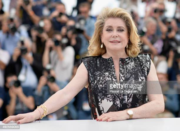 Actress Catherine Deneuve attends L'Homme Qu'On Aimait Trop photocall at the 67th Annual Cannes Film Festival on May 21 2014 in Cannes France
