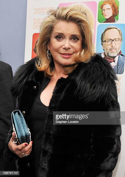 Actress Catherine Deneuve attends the 16th Annual RendezVous with French Cinema Opening Night Gala presented by Film Society of Lincoln Center and...