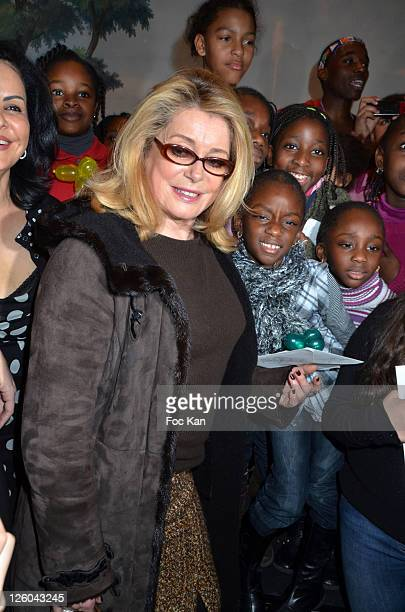 Actress Catherine Deneuve attends the 'Charity Event For Children in Haiti' hosted by the CIRA at the Hotel Bristol on January 5 2011 in Paris France