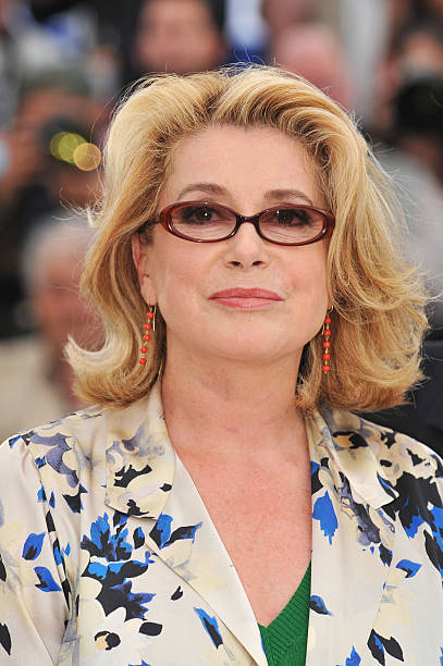 1ba07d0454c Actress Catherine Deneuve attends the Je Veux Voir Photocall at the Palais  des Festivals during the
