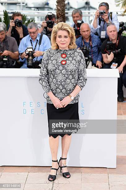 Actress Catherine Deneuve attends the La Tete Haute photocall during the 68th annual Cannes Film Festival on May 13 2015 in Cannes France