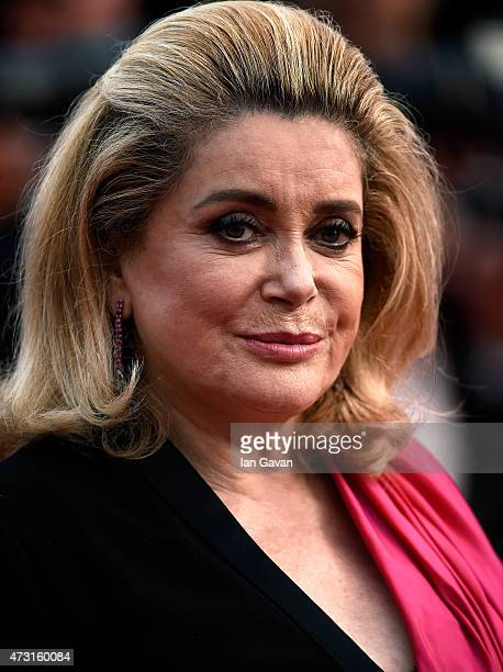 Actress Catherine Deneuve attends the opening ceremony and premiere of La Tete Haute during the 68th annual Cannes Film Festival on May 13 2015 in...
