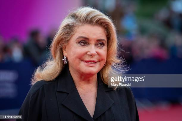 Actress Catherine Deneuve attends the Tribute to the 25 Years Of Competition during the 45th Deauville American Film Festival on September 07, 2019...