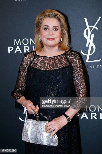 Actress Catherine Deneuve attends YSL Beauty launches the new Fragrance 'Mon Paris' at Cafe Le Georges on June 14 2016 in Paris France