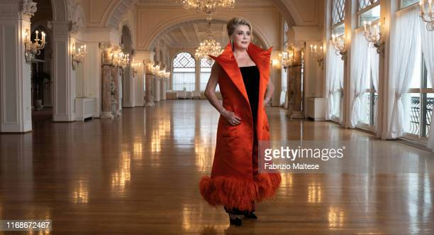 Actress Catherine Deneuve poses for a portrait on August 28, 2019 in Venice, Italy.
