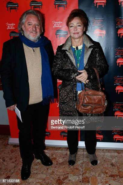 Actress Catherine Frot and guest attend Depardieu Chante Barbara at Le Cirque d'Hiver on November 7 2017 in Paris France