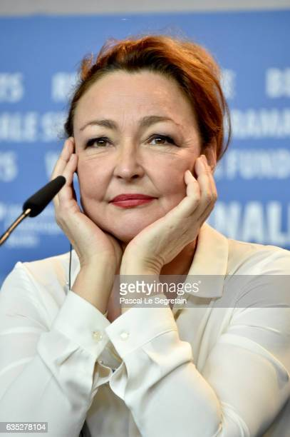 Actress Catherine Frot the 'The Midwife' press conference during the 67th Berlinale International Film Festival Berlin at Grand Hyatt Hotel on...