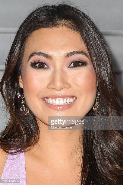 Actress Catherine Haena Kim arrives at Maxim Hot 100 at Pacific Design Center on June 10 2014 in West Hollywood California