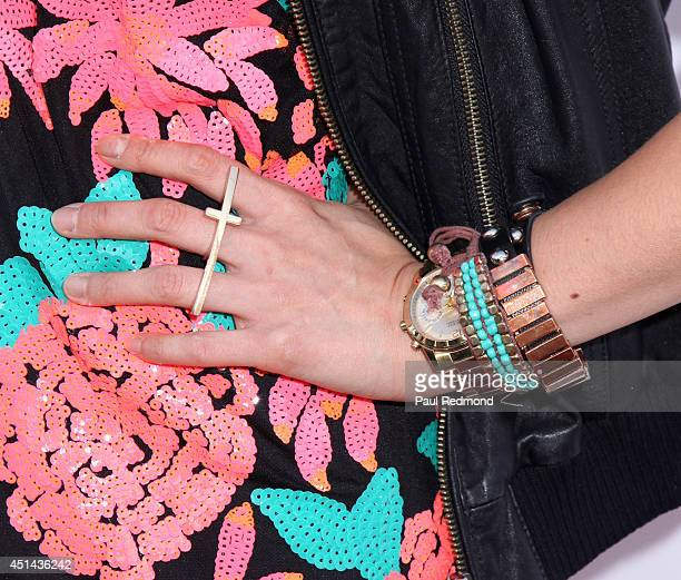 Actress Catherine Haena Kim attending the Genlux Katie Cassidy Cover party on June 28 2014 in Los Angeles California