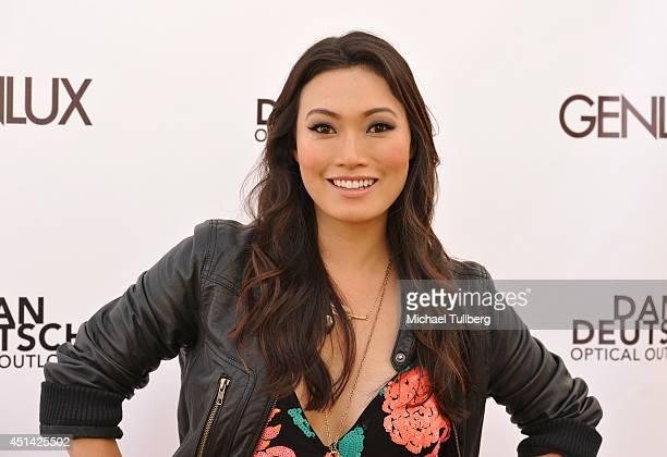 Actress Catherine Haena Kim attends Genlux Magazine's launch party for their new issue at Luxe Hotel on June 28 2014 in Los Angeles California