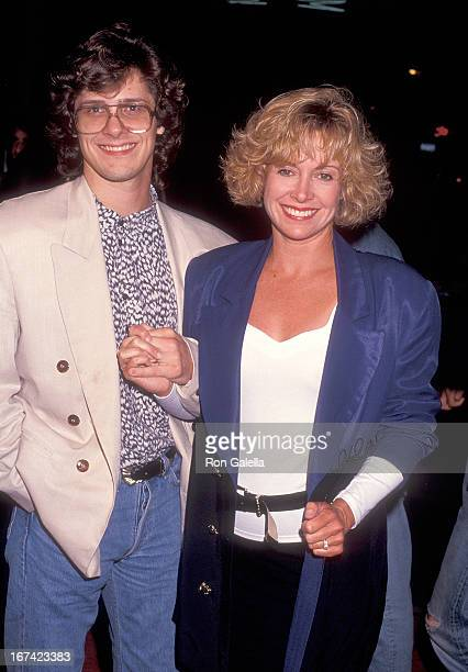 """Actress Catherine Hicks and husband Kevin Yagher attend the """"Bill & Ted's Bogus Journey"""" Hollywood Premiere on July 11, 1991 at the Mann's Chinese..."""