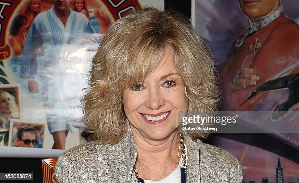 Actress Catherine Hicks attends the 13th annual Star Trek convention at the Rio Hotel Casino on August 2 2014 in Las Vegas Nevada