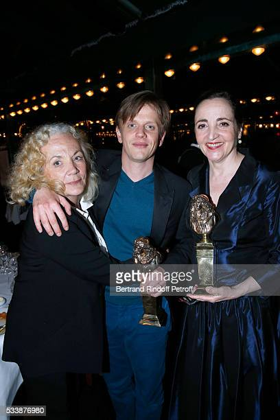 Actress Catherine Hiegel Winner of 'Moliere de lhumour' for his Show Alex Lutz and Winner of the 'Moliere de la comedienne dans un spectacle de...